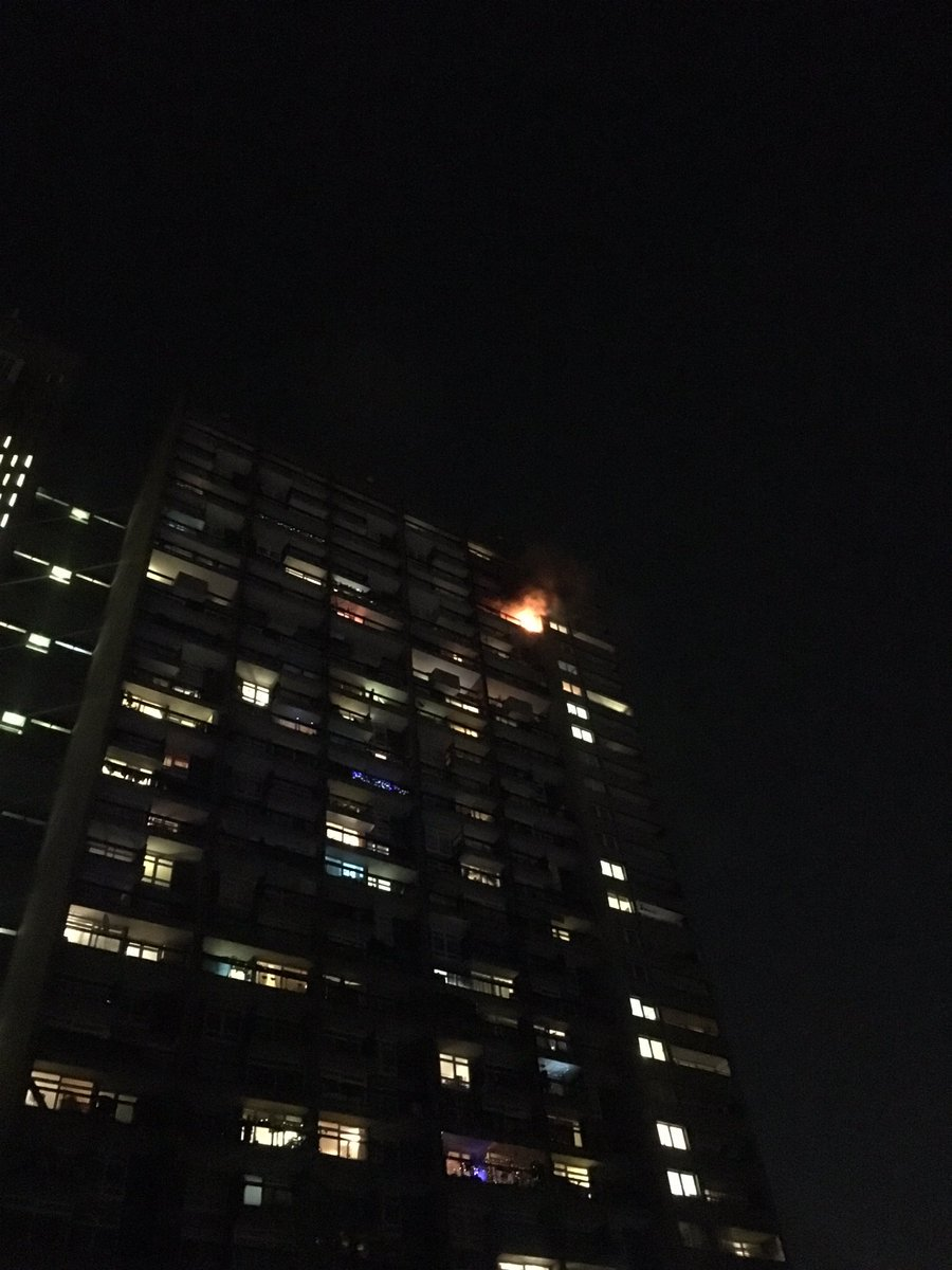 A carelessly discarded cig on the balcony #ThisWeek is believed to be cause of Trellick Tower blaze © Reanne Scott https://t.co/bMKnPy6umo