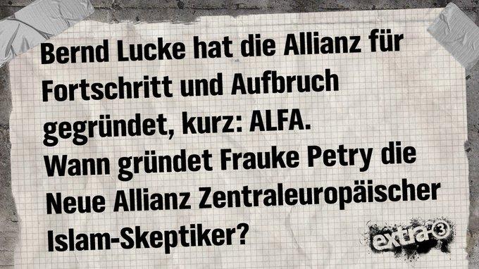 Ein bißchen (rechts) um die Ecke gedacht. #AfD #Petry