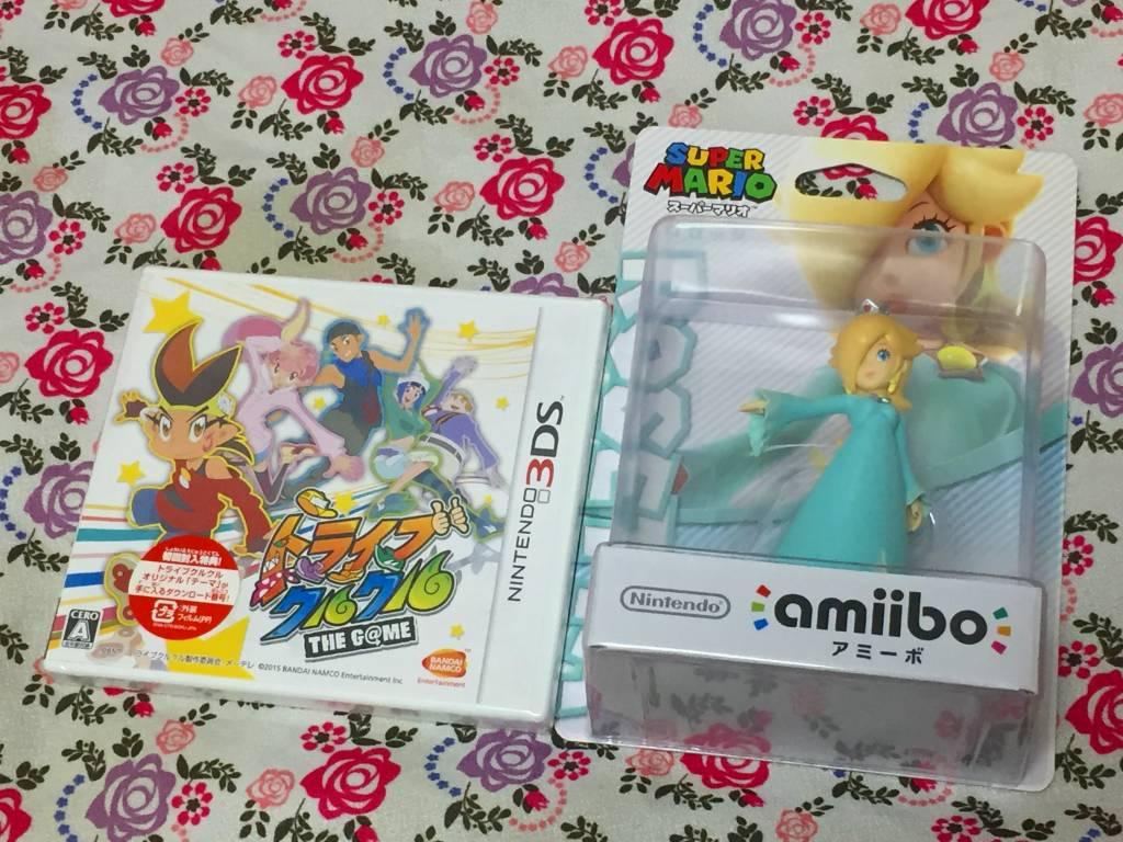 ほしい物リストに入れていたロゼッタのamiiboが届いた!感謝!……何故かトライブクルクルのゲームと一緒!