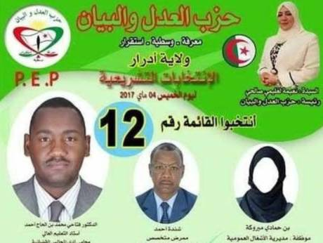 'Faceless' female election posters cause upset in Algeria