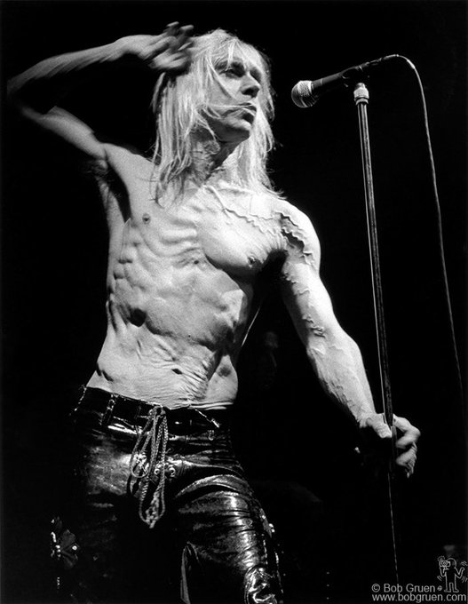 A very happy birthday to Iggy Pop who turns 70 today ! Photos by