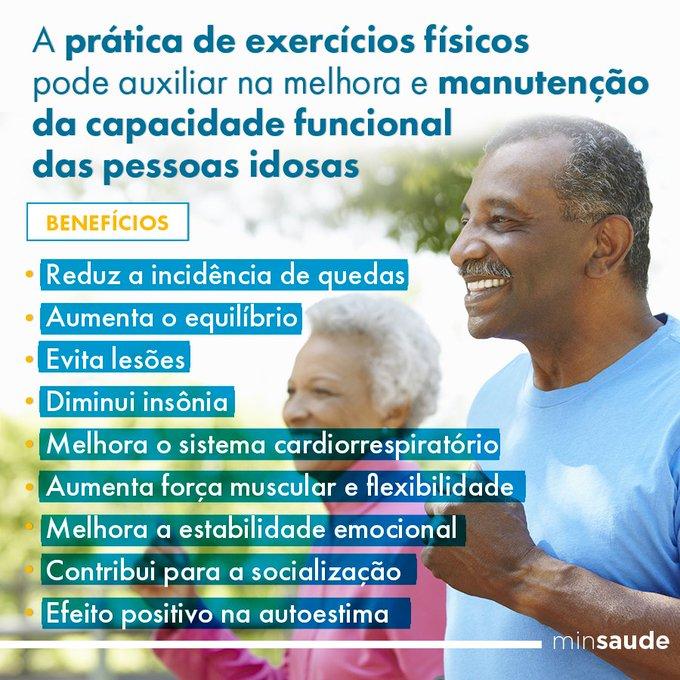 A prática de atividade física é importante na manutenção da saúde da pessoa idosa