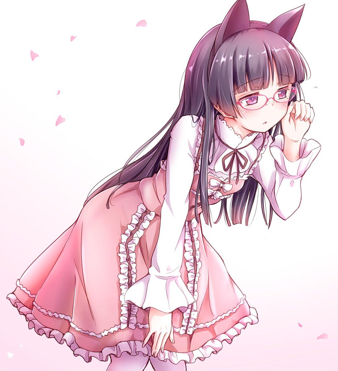 Oh!眼鏡分が足りてなかったですよ!プレゼントです、お誕生日おめでとう瑠璃先輩!#黒猫生誕祭2017 #五更瑠璃生誕祭2