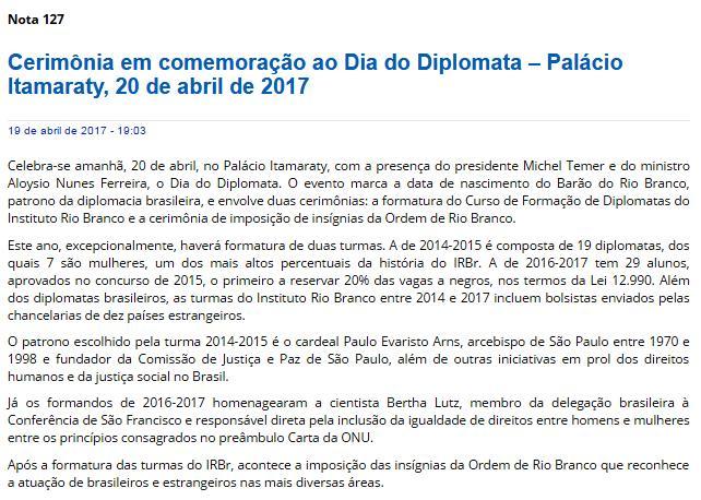 #DiaDoDiplomata