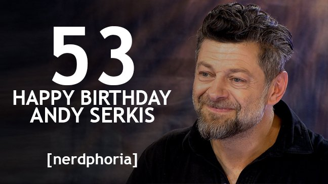 Gollum, Caesar, Snoke.... happy birthday Andy Serkis! What a talent.