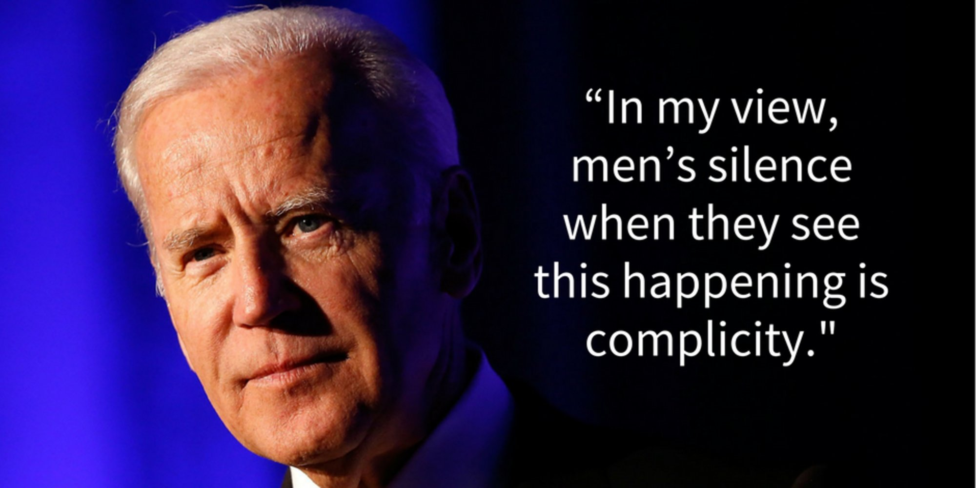 Joe Biden reminds men just how important they are in the fight against sexual assault https://t.co/gWOwmWdxm6 https://t.co/PqQa51Uaa5