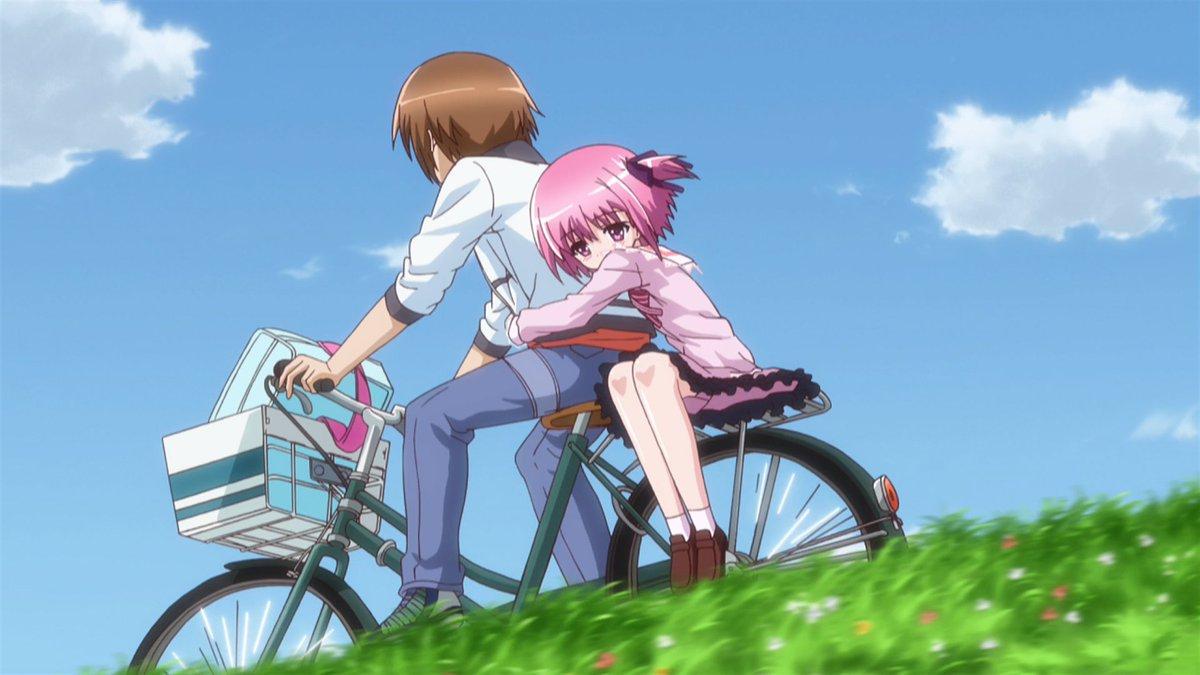 #ロウきゅーぶ!#ロリノミクス小学生と自転車で2人乗り・・(´-ω-`)ウラヤマ~