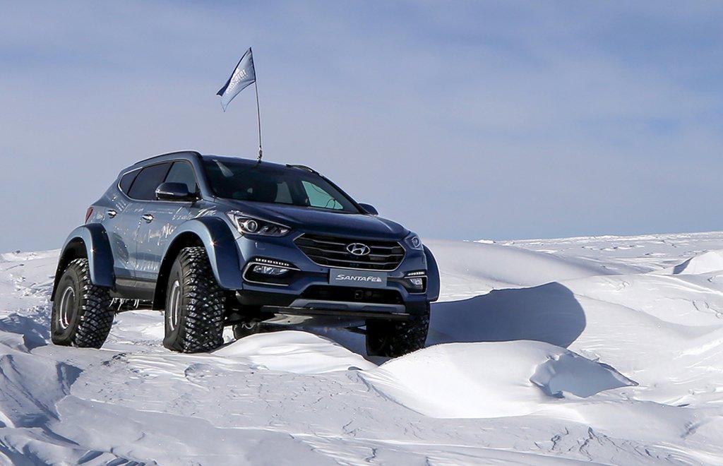 Shackleton descendant tackles Antarctica –in a Hyundai SantaFe