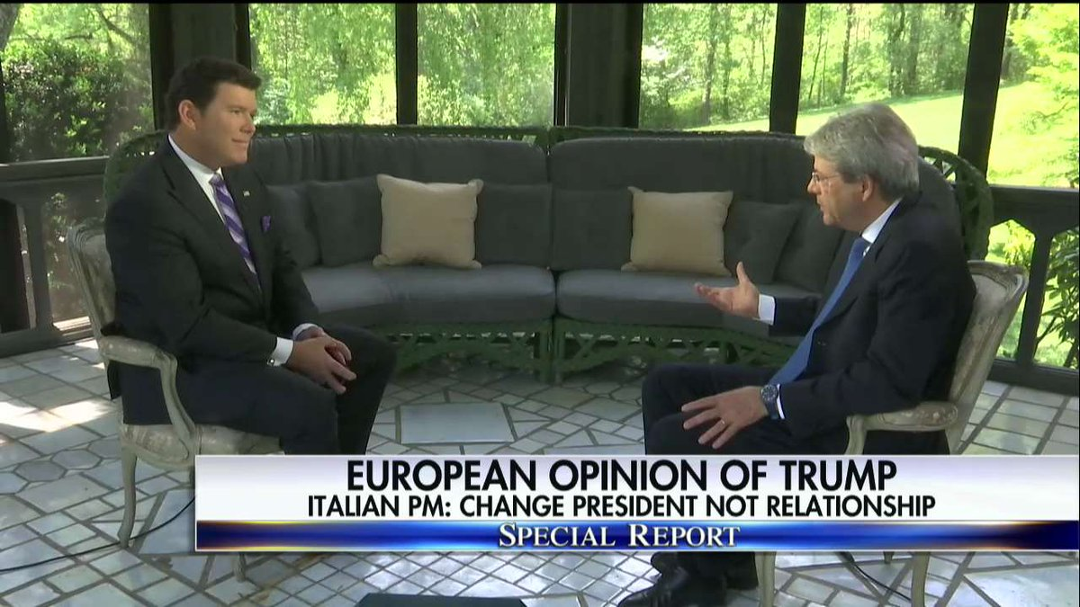 Italian PM: 'The U.S. administration understands the importance of Europe.' #SpecialReport