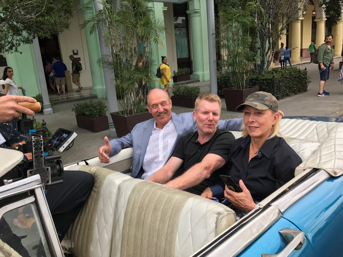 stansmithonline martina and jim courier cruisin in cuba