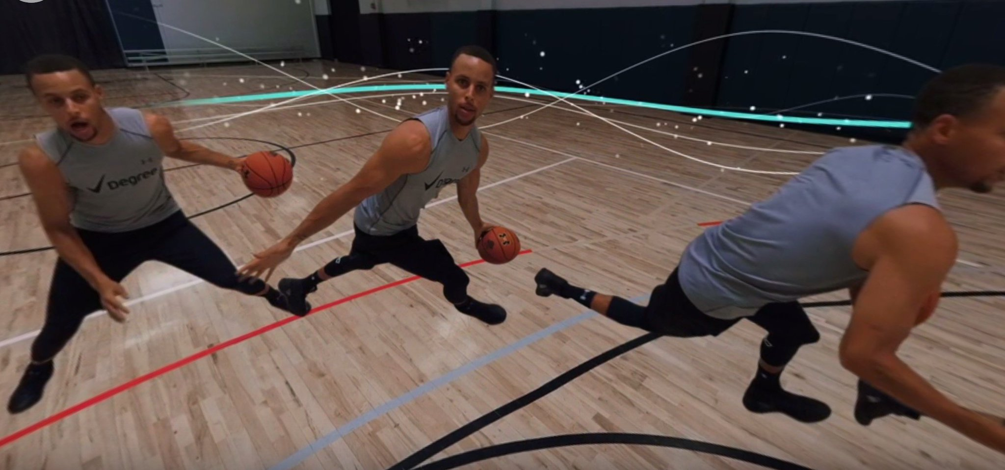 Get on the court with @StephenCurry30 in this 360° video. #RedefineWhatsPossible https://t.co/lpdIjdG1U9