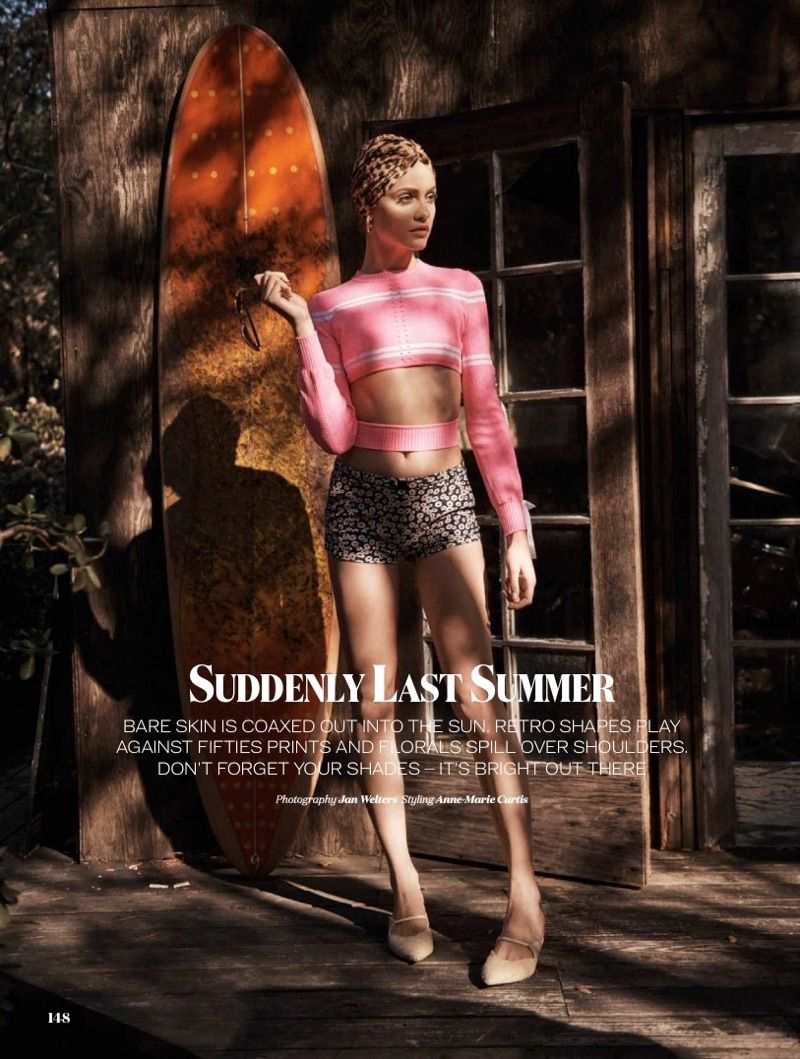 How to summer: shine in retro cuts and daring prints! @GintaLapina89 in @ELLEUK' s May issue. https://t.co/T9Gr4pzV1n