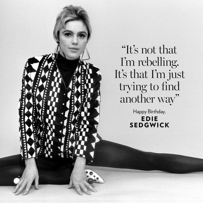 Happy birthday Edie Sedgwick! ___