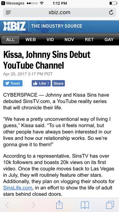 Thanks @XBIZ!! https://t.co/BwOdSkwSMH 👉🏼https://t.co/oVrvnBOYKd.?id=219102 @JohnnySins @SinsLifeXXX