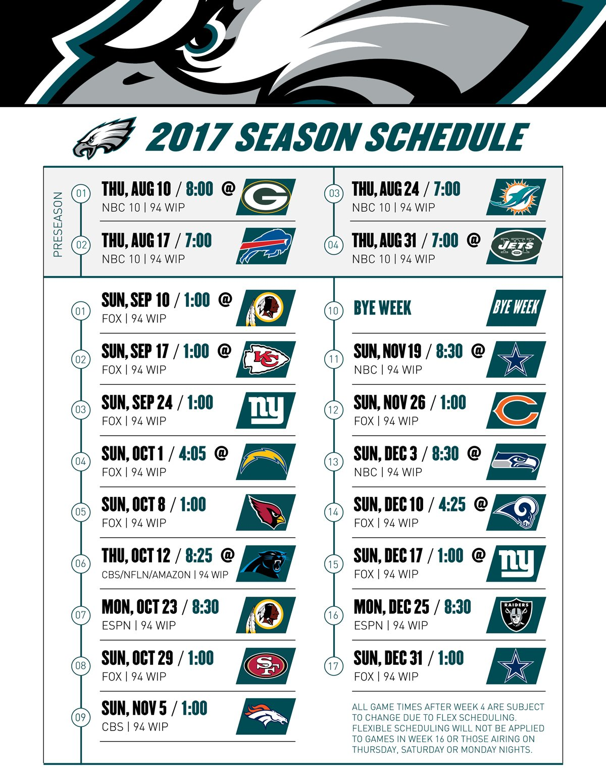 And here it is: The #Eagles 2017 regular season schedule #FlyEaglesFly https://t.co/4IkaVQY2Es
