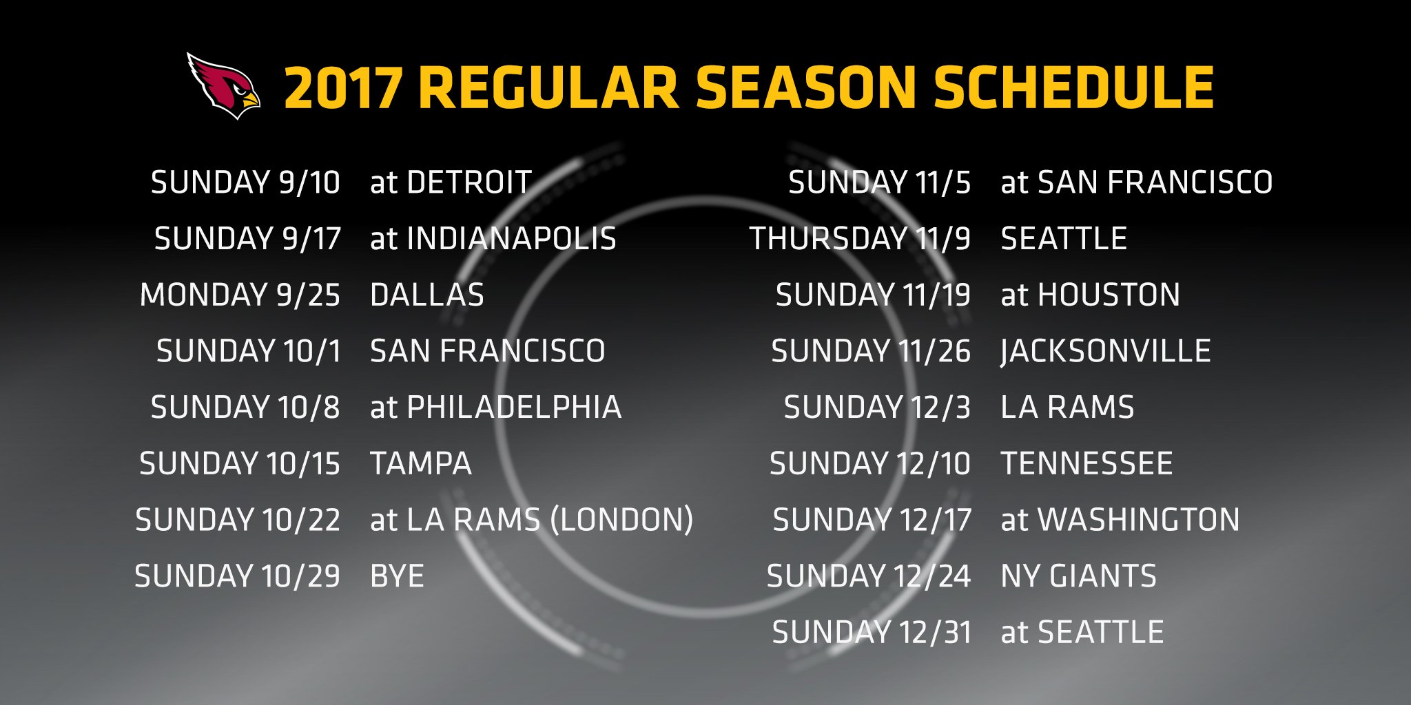 Let the countdown begin.  Our 2017 schedule is here!  More info:  https://t.co/HsffbcviGG https://t.co/fzmbQcJ0Yt