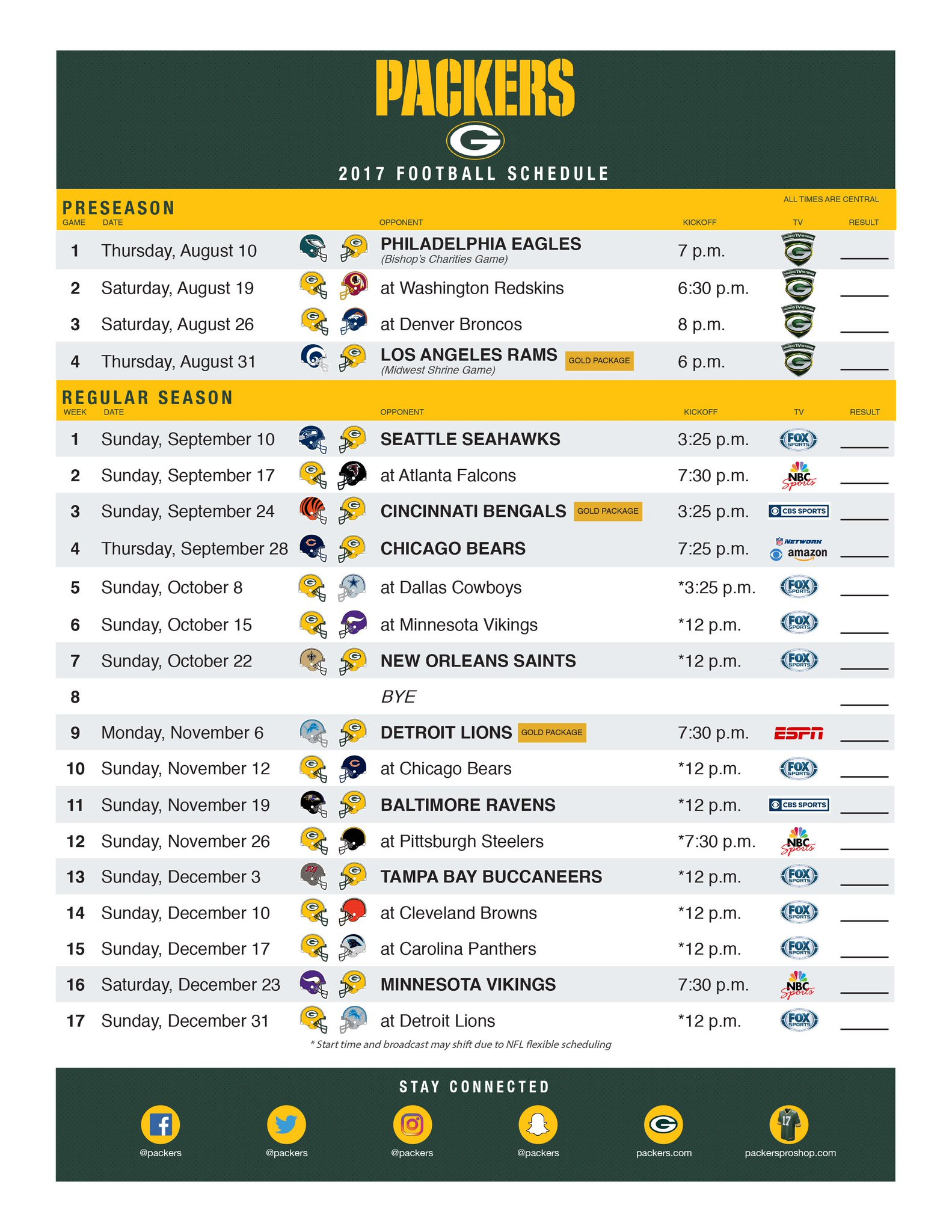 Print your 2017 #Packers schedule!   ��: https://t.co/11LbDm9kMY   #GoPackGo https://t.co/08fkeBD64k