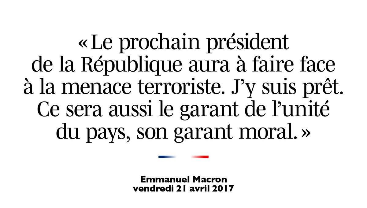 Le prochain président de la République aura à faire face à la menace terroriste. J'y suis prêt. #RTLMatin