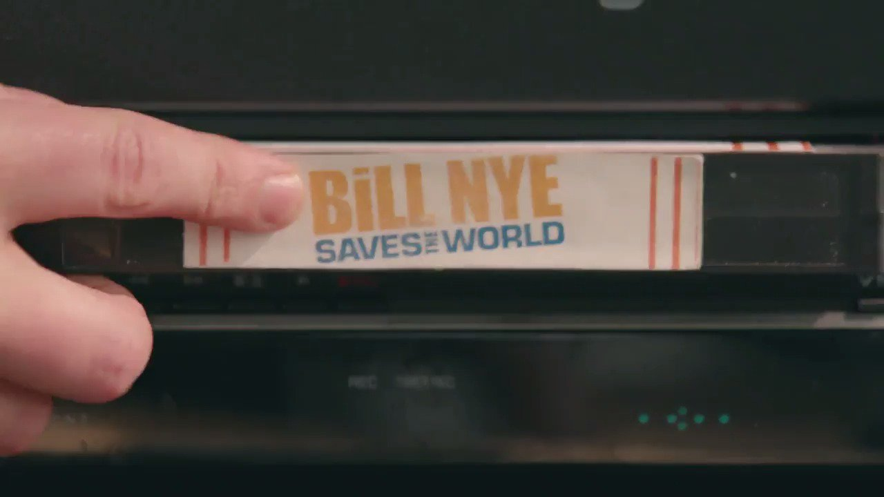 BILL BILL BILL BILL! @BillNyeSaves the World is now on Netflix. https://t.co/F0fAiqhPcV
