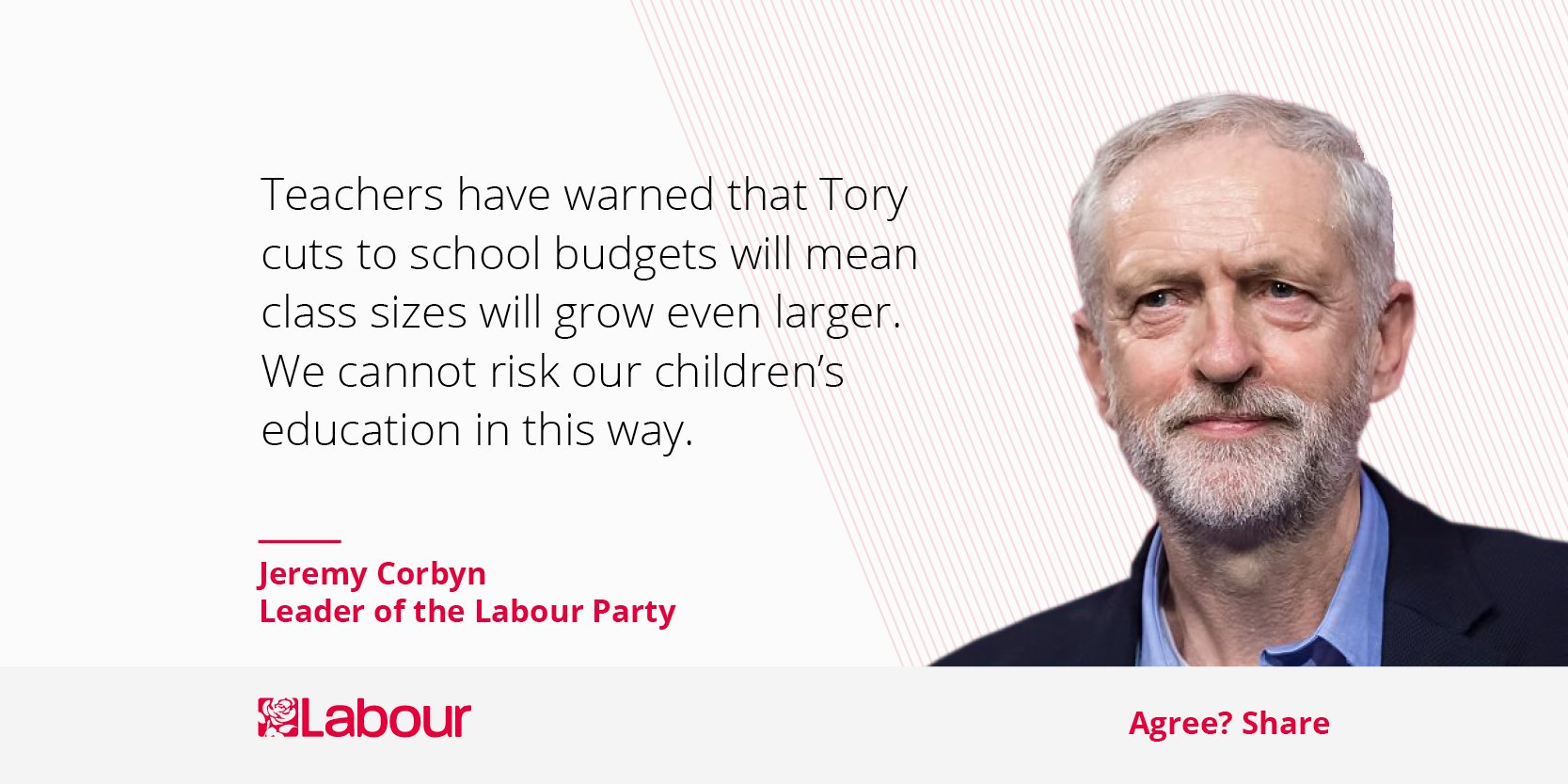 We can't risk our children's education by leaving it in the hands of the Tories any longer. #VoteLabour https://t.co/fGxhJl7vvQ