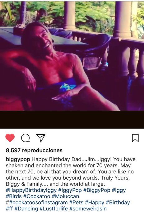 Appreciation post: Biggy felicitando a papi Iggy Pop happy birthday God