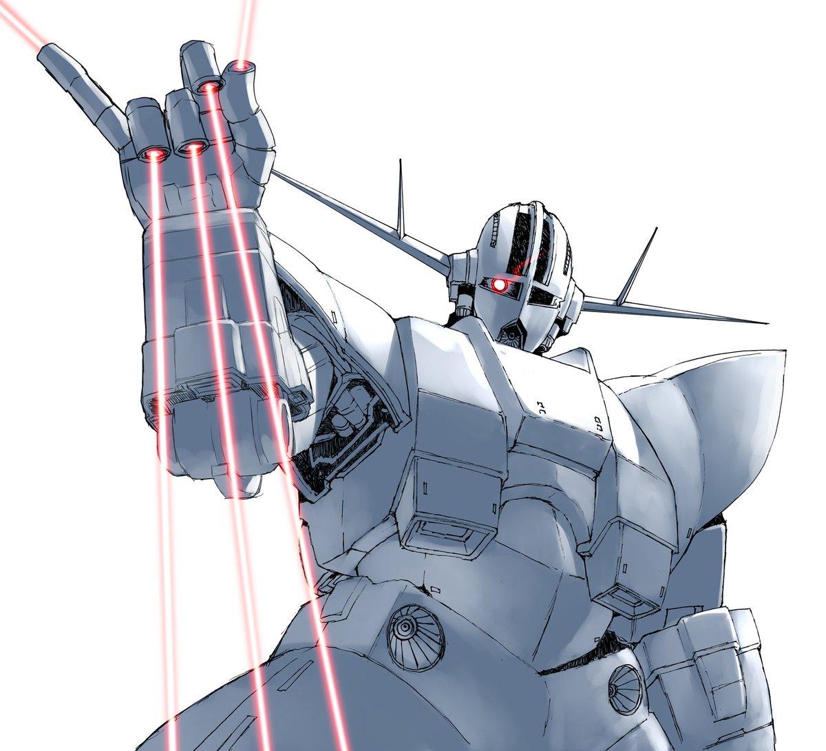 TLの下の人にメガ粒子砲を振りかけるジオング。(h