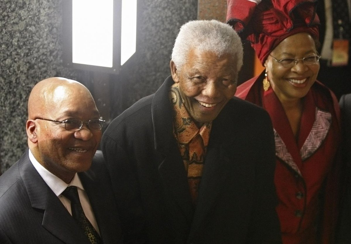 """South Africans express shock over """"sex painting"""" of Zuma and Mandela https:/"""