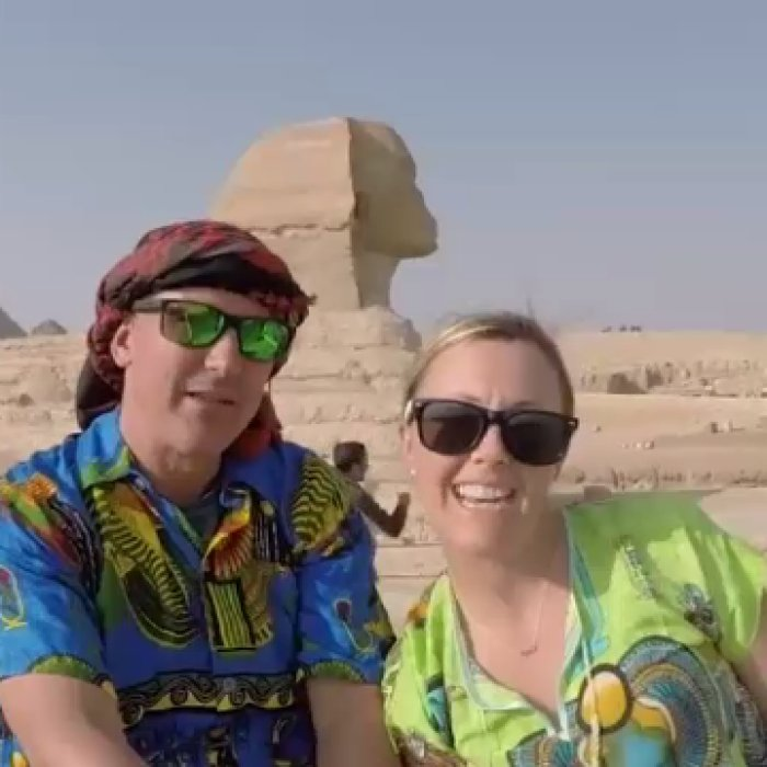 Australian couple's Walk Like an Egyptian video goes viral in Egypt