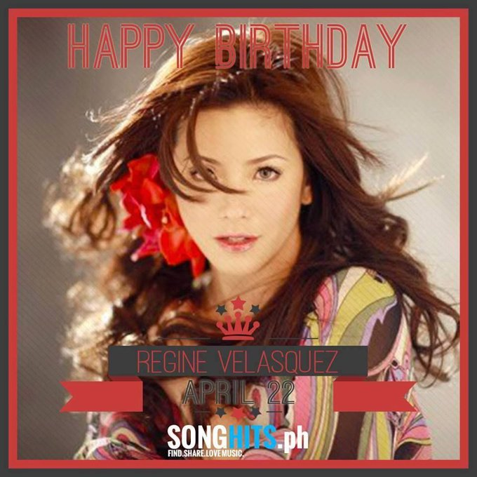 Happy Birthday Ms. Regine Velasquez. Check out here SongHits Profile ->