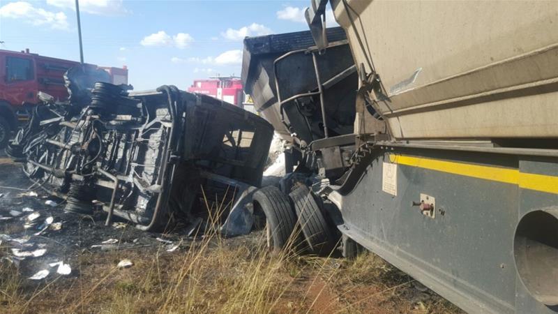 South Africa minibus crash kills 20 children in a horrific traffic accident outside Pretoria