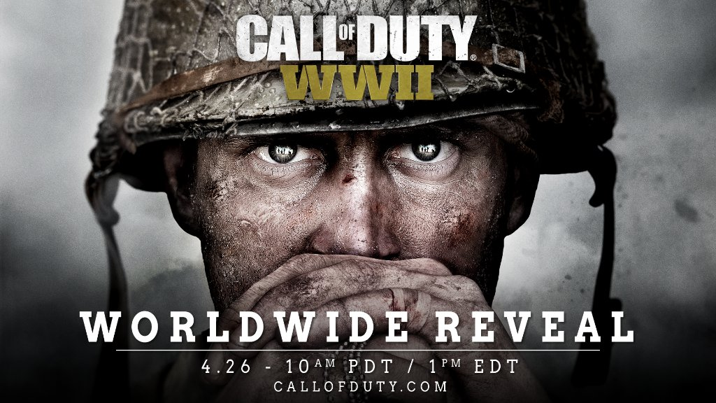 Ready up.  #CODWWII's [RP] worldwide reveal stream goes live April 26 at 10 AM PT: https://t.co/x4Tig8dwes https://t.co/7VyDI6CP9r