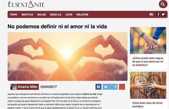 """""""No podemos definir ni el amor ni la vida"""". Mi relato para @El_Sextante podéis leerlo aquí: https://t"""
