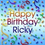 hey happy birthday Ricky..stay blessed always..love u ....keep smiling always