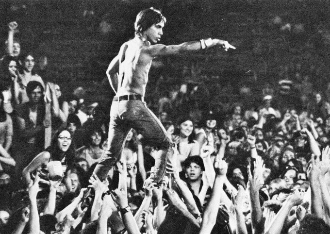 Happy 70th birthday to one of rock and roll\s truest wild men, Iggy Pop.
