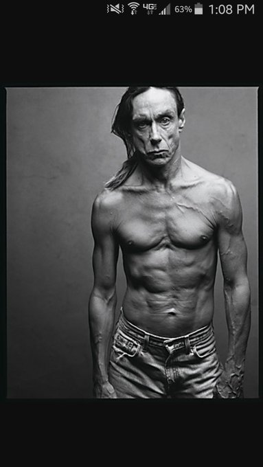 Happy birthday Iggy Pop, I hope one day I too can look this leathery.