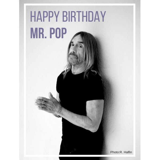 Happy 70th Birthday to always on a playlist at the Pod! LOVE LOVE LOVE Iggy Pop