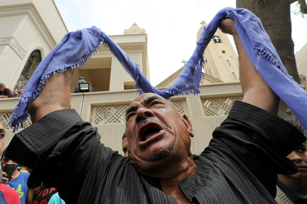 Church bombing north of Cairo kills 25 on Palm Sunday