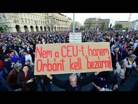 VIDEO -  Hungary: Thousands demonstrate against new bill targeting Soros university
