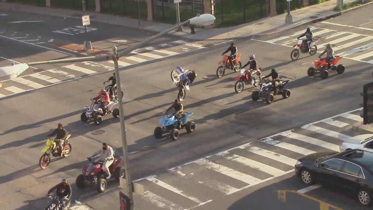 VIDEO Illegal dirt bikes, ATVs cut across traffic in Northeast DC