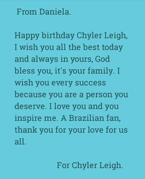 Happy Birthday Chyler Leigh. I love you Alex Danvers, Lexie Grey.