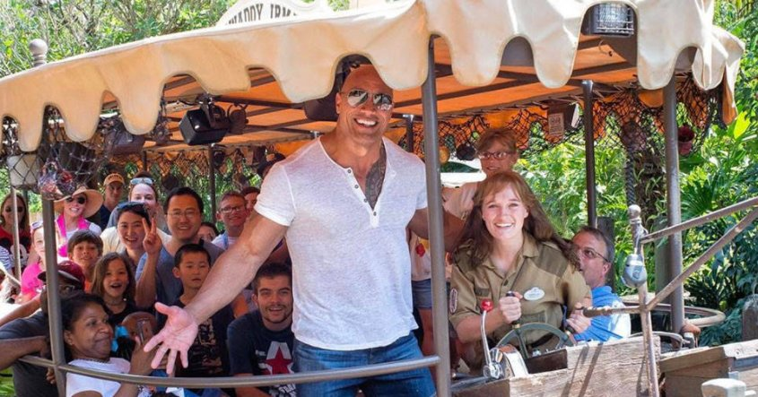 Dwayne Johnson surprised Disney World tourists by commandeering the Jungle Cruise ride: