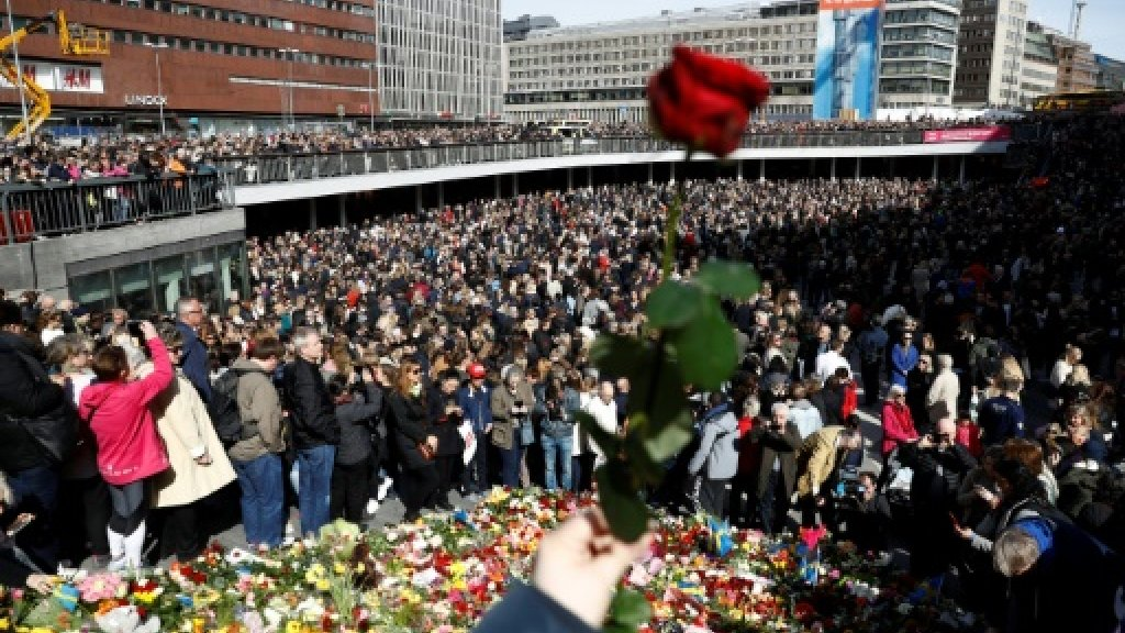 Sweden observes minute's silence for truck attack victims