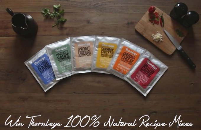 Win Thornleys 100% Natural Recipe Mixes