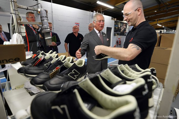 Yesterday, The Prince of Wales met local communities across Cumbria and toured the county's @newbalance factory.