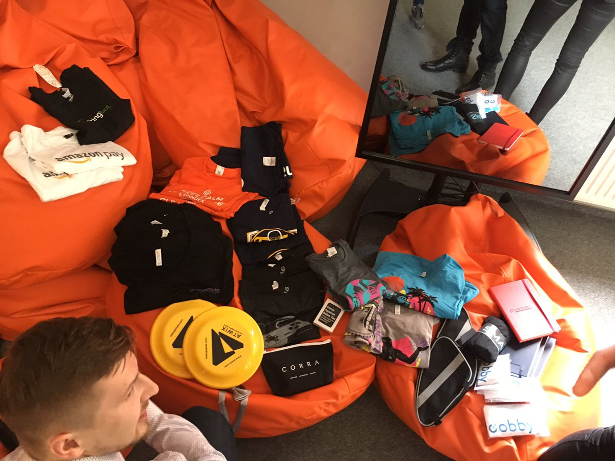 SnowdogApps: Our team in Poland is thrilled with a lot of great swag from #MagentoImagine sponsors! Thanks! https://t.co/lCC4yG93mO