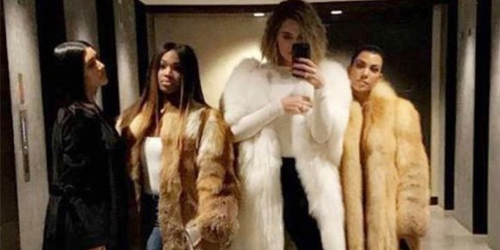 Khloé, Kourtney and Kim Kardashian take a sisters trip — in floor-length fur