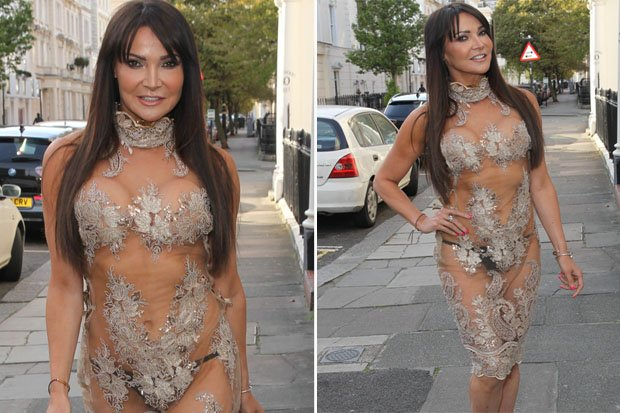 See through dress in public