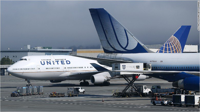 United Airlines lost some $250 million in stock market value today