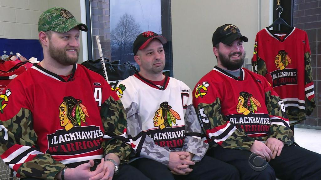 Wounded U.S. war heroes become ice hockey warriors: