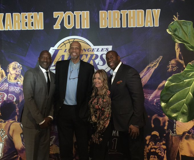 Happy birthday to my good friend and NBA leading scorer of all time Kareem Abdul-Jabbar!